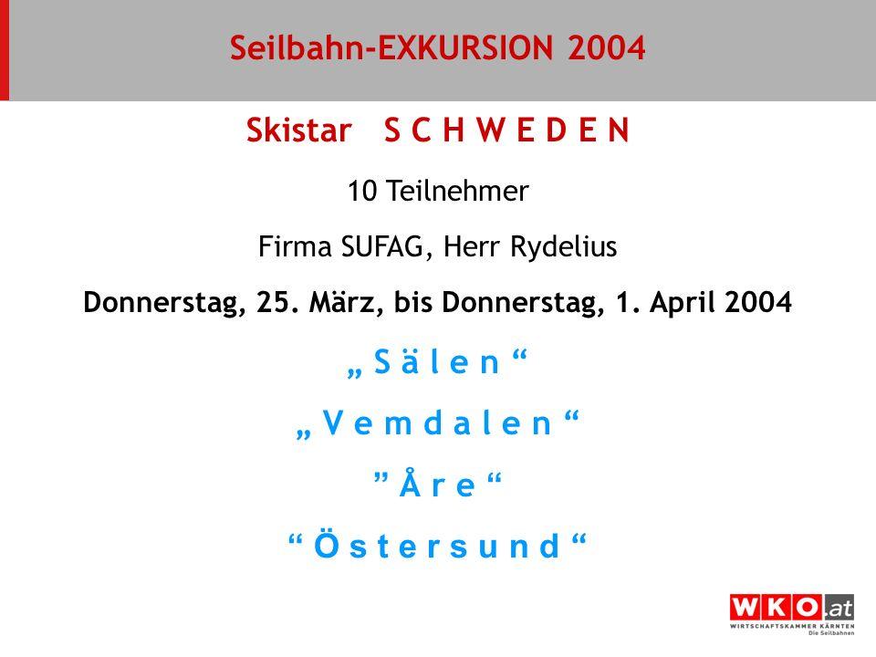 Donnerstag, 25. März, bis Donnerstag, 1. April 2004