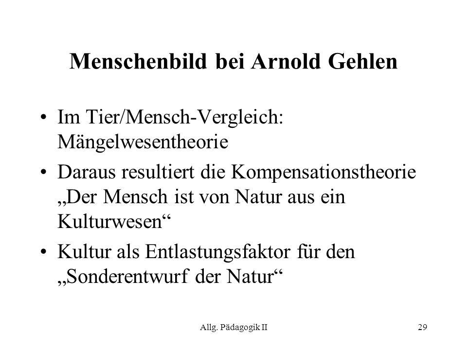 Menschenbild bei Arnold Gehlen