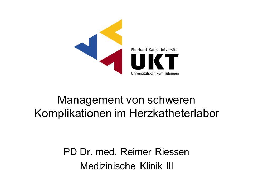 Management von schweren Komplikationen im Herzkatheterlabor
