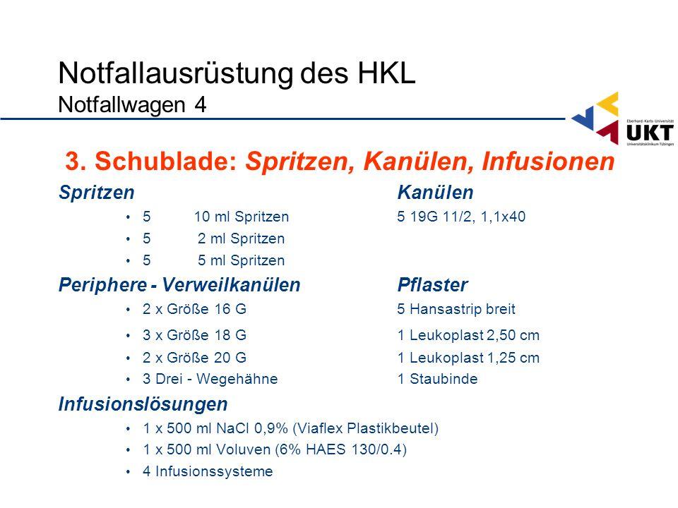 Notfallausrüstung des HKL Notfallwagen 4
