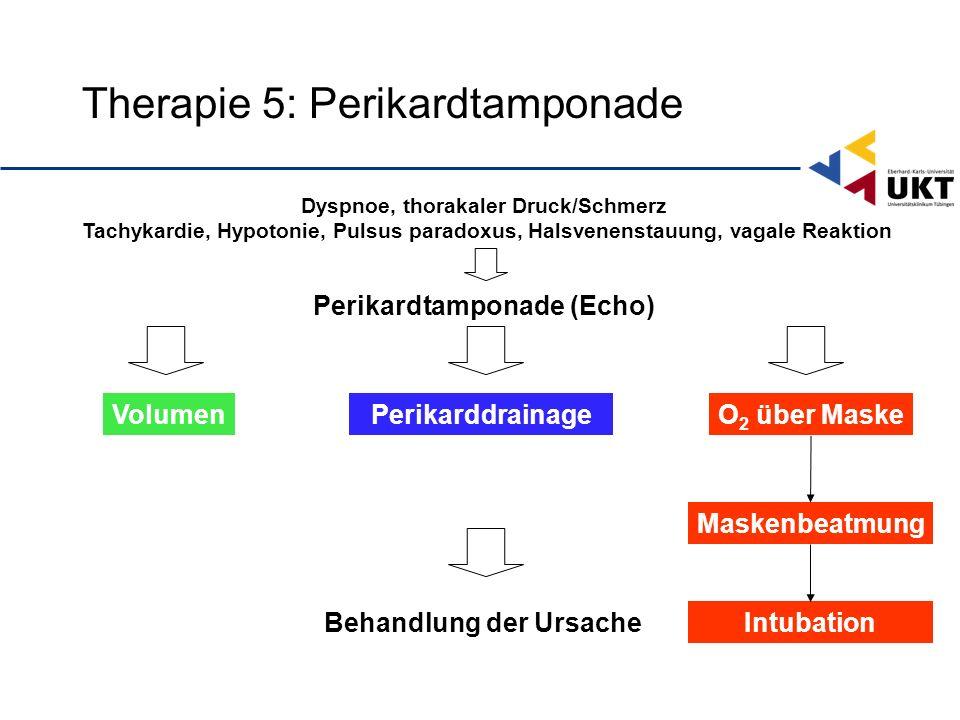 Therapie 5: Perikardtamponade