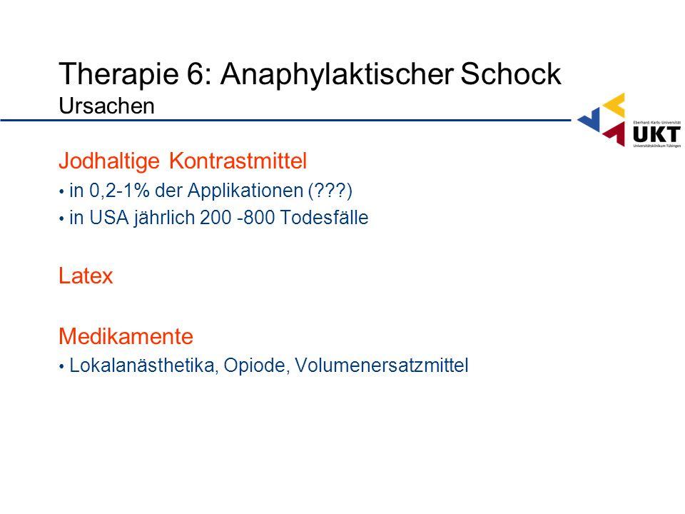 Therapie 6: Anaphylaktischer Schock Ursachen