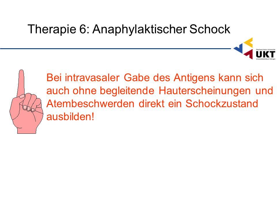Therapie 6: Anaphylaktischer Schock