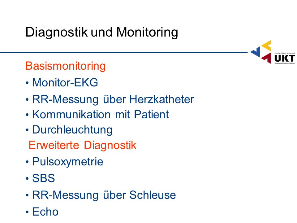 Diagnostik und Monitoring