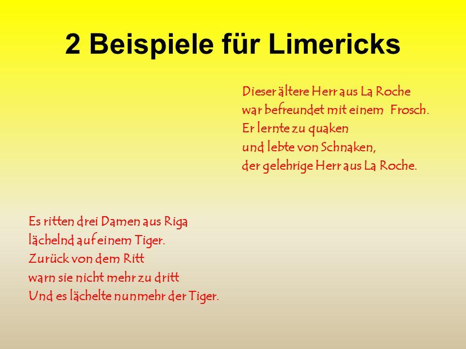 2 Beispiele für Limericks