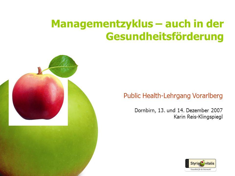 Managementzyklus – auch in der Gesundheitsförderung
