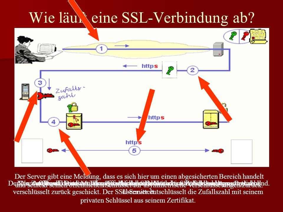 Wie läuft eine SSL-Verbindung ab