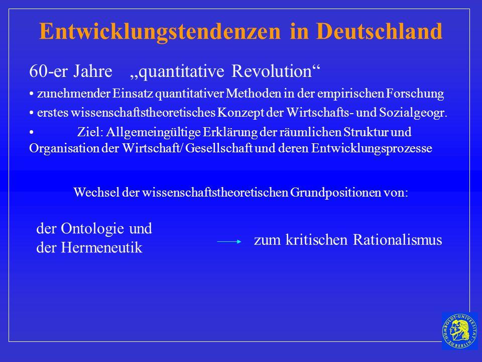 Entwicklungstendenzen in Deutschland