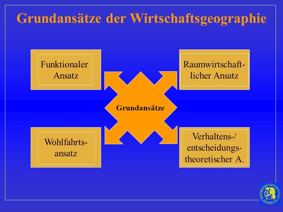 Grundansätze der Wirtschaftsgeographie