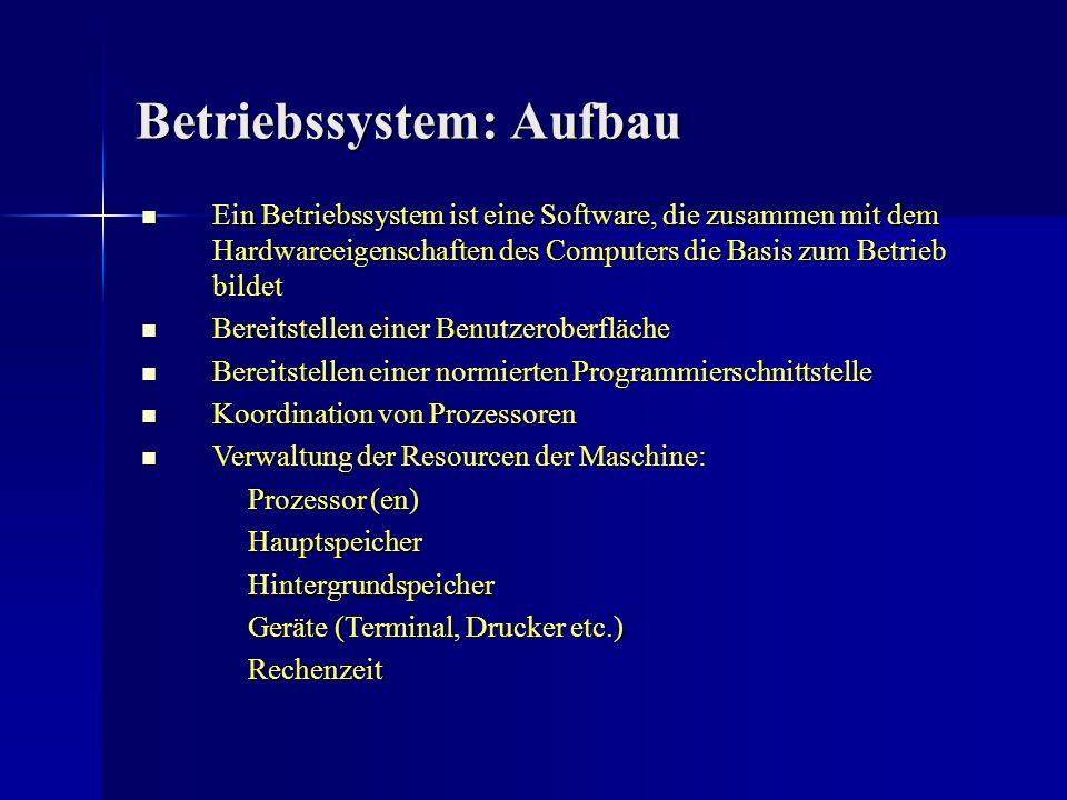 Betriebssystem: Aufbau