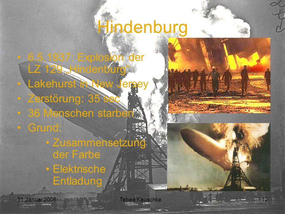 """Hindenburg 6.5.1937: Explosion der LZ 129 """"Hindenburg"""