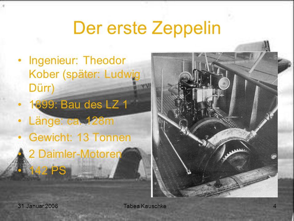 Der erste Zeppelin Ingenieur: Theodor Kober (später: Ludwig Dürr)