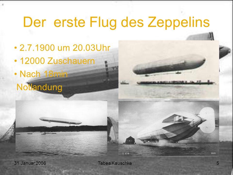 Der erste Flug des Zeppelins