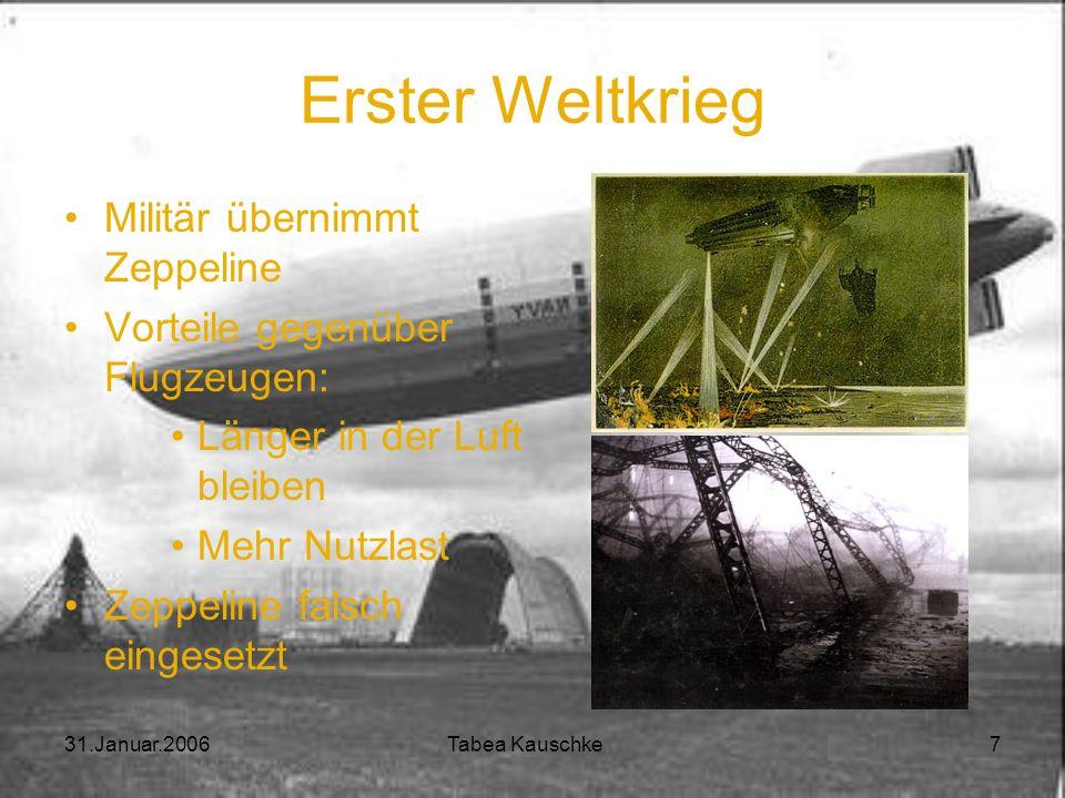 Erster Weltkrieg Militär übernimmt Zeppeline