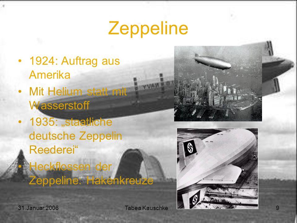 Zeppeline 1924: Auftrag aus Amerika Mit Helium statt mit Wasserstoff