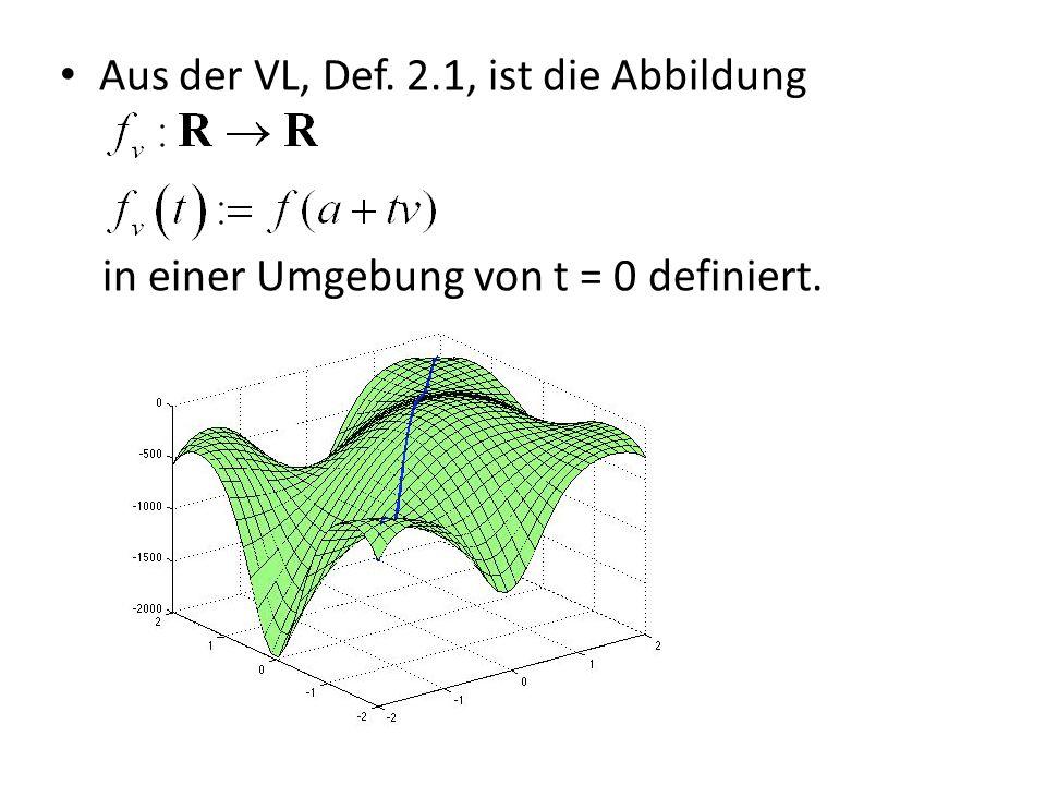 Aus der VL, Def. 2.1, ist die Abbildung