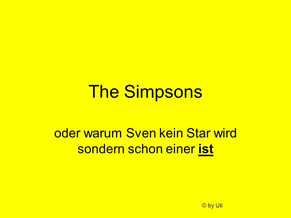 oder warum Sven kein Star wird sondern schon einer ist