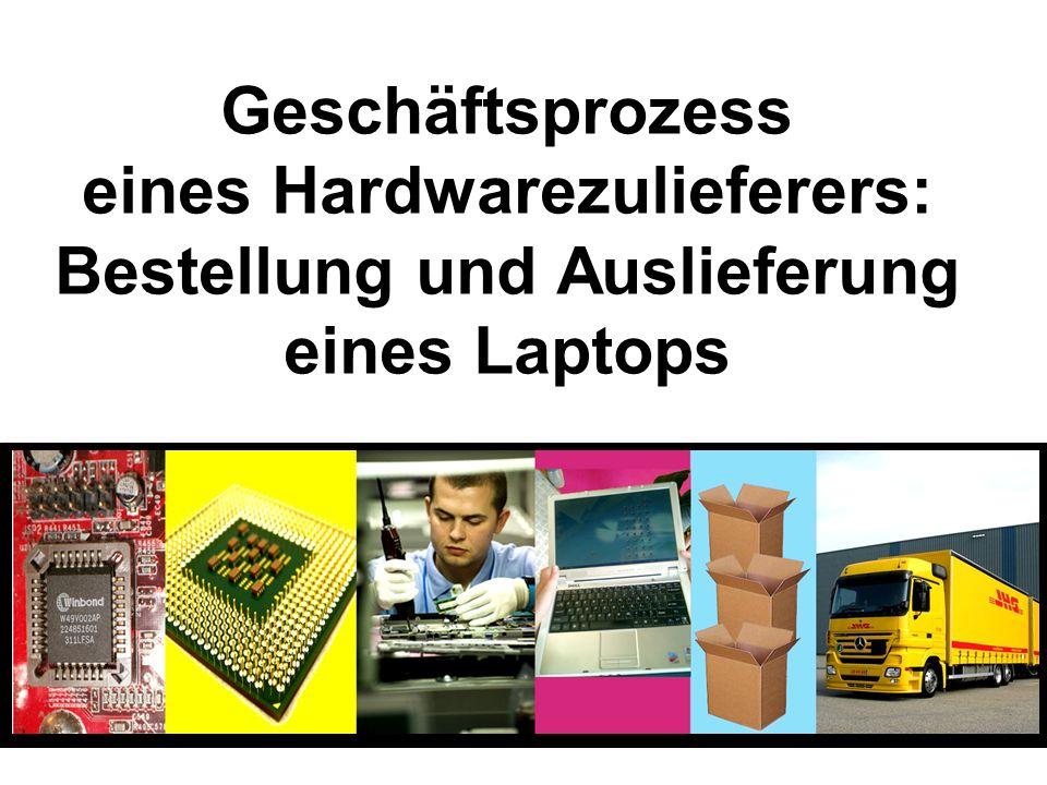 Geschäftsprozess eines Hardwarezulieferers: Bestellung und Auslieferung eines Laptops
