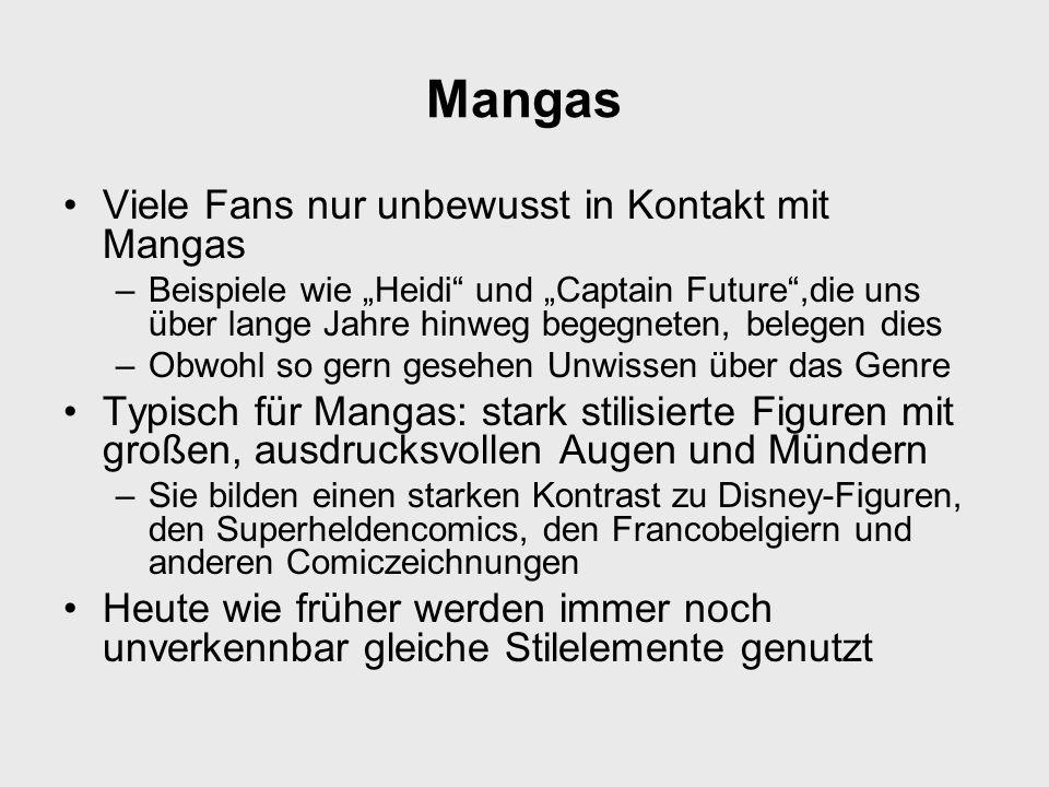 Mangas Viele Fans nur unbewusst in Kontakt mit Mangas
