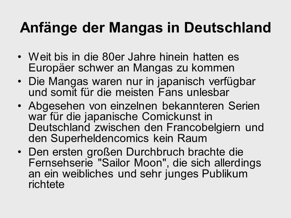 Anfänge der Mangas in Deutschland