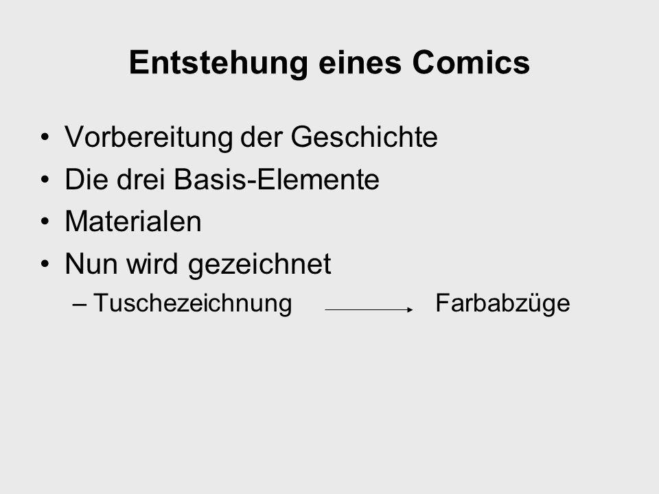 Entstehung eines Comics