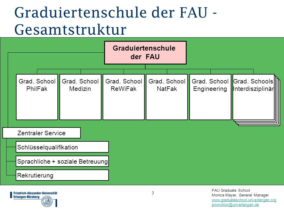 Graduiertenschule der FAU - Gesamtstruktur