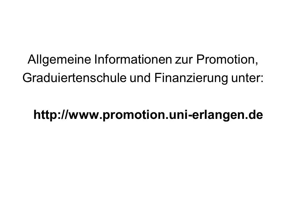 Allgemeine Informationen zur Promotion,
