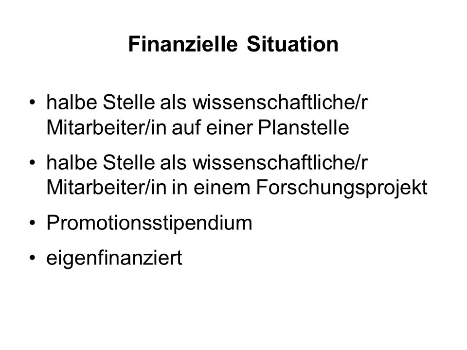 Finanzielle Situation