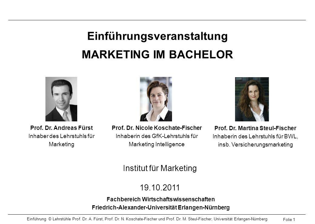 Einführungsveranstaltung MARKETING IM BACHELOR