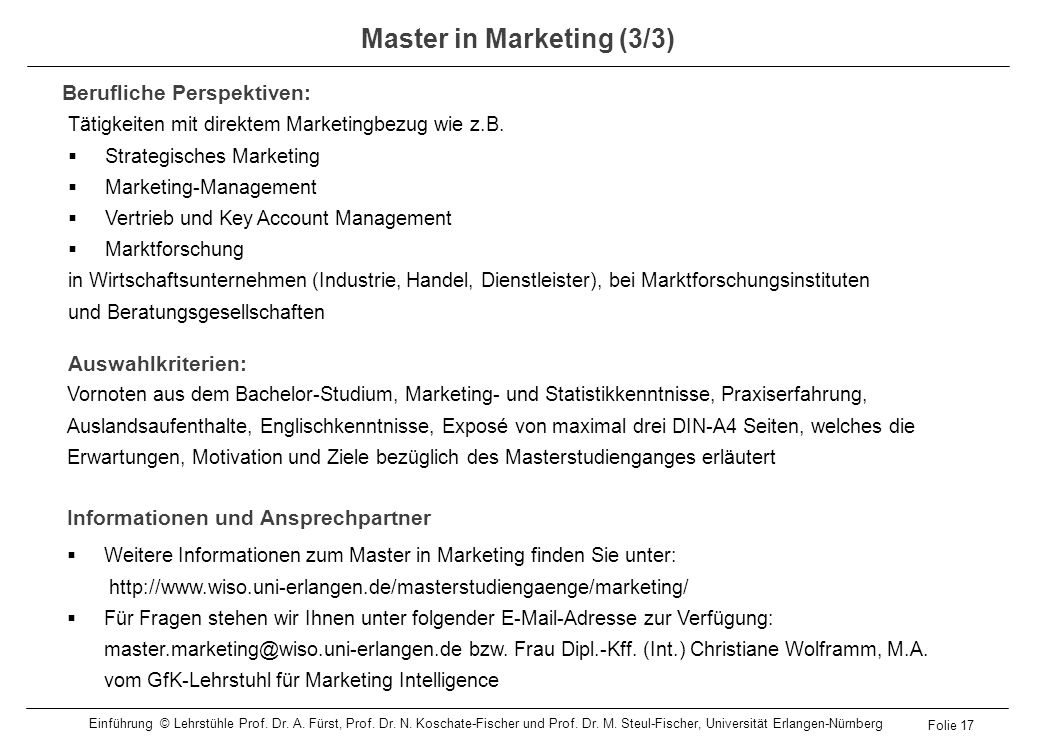 Master in Marketing (3/3)