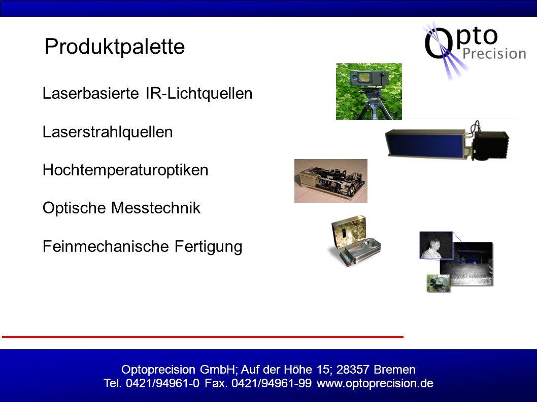 Produktpalette Laserbasierte IR-Lichtquellen Laserstrahlquellen