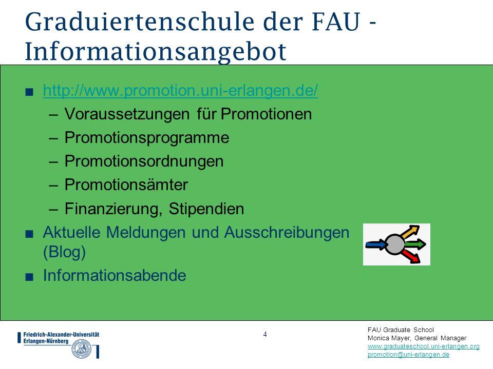 Graduiertenschule der FAU - Informationsangebot