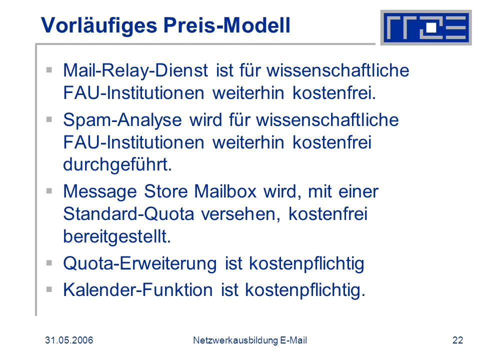 Vorläufiges Preis-Modell