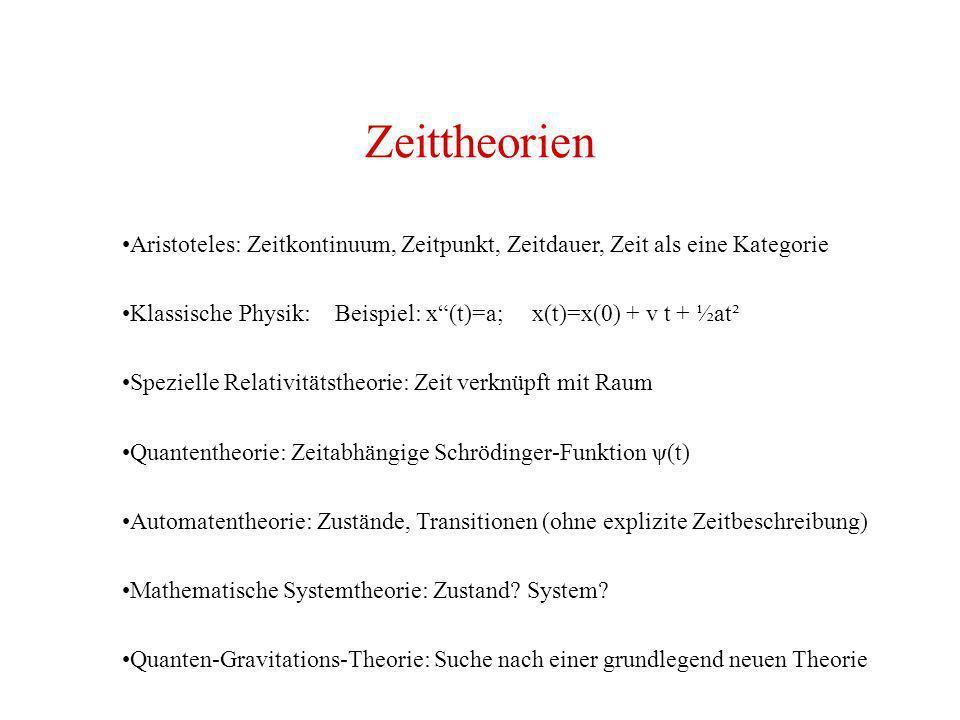 Zeittheorien Aristoteles: Zeitkontinuum, Zeitpunkt, Zeitdauer, Zeit als eine Kategorie.