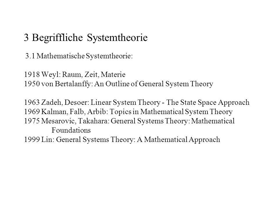 3 Begriffliche Systemtheorie 3