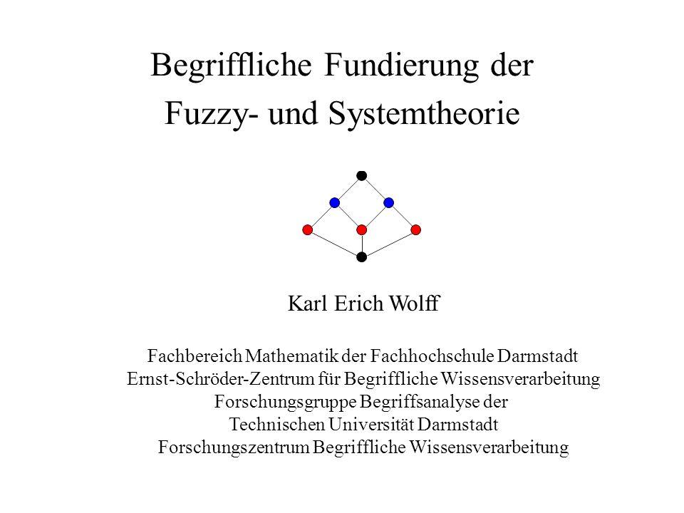Begriffliche Fundierung der Fuzzy- und Systemtheorie