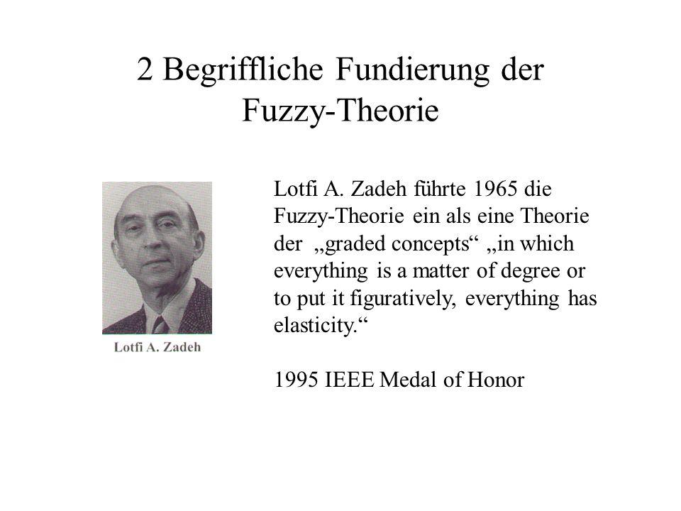 2 Begriffliche Fundierung der Fuzzy-Theorie