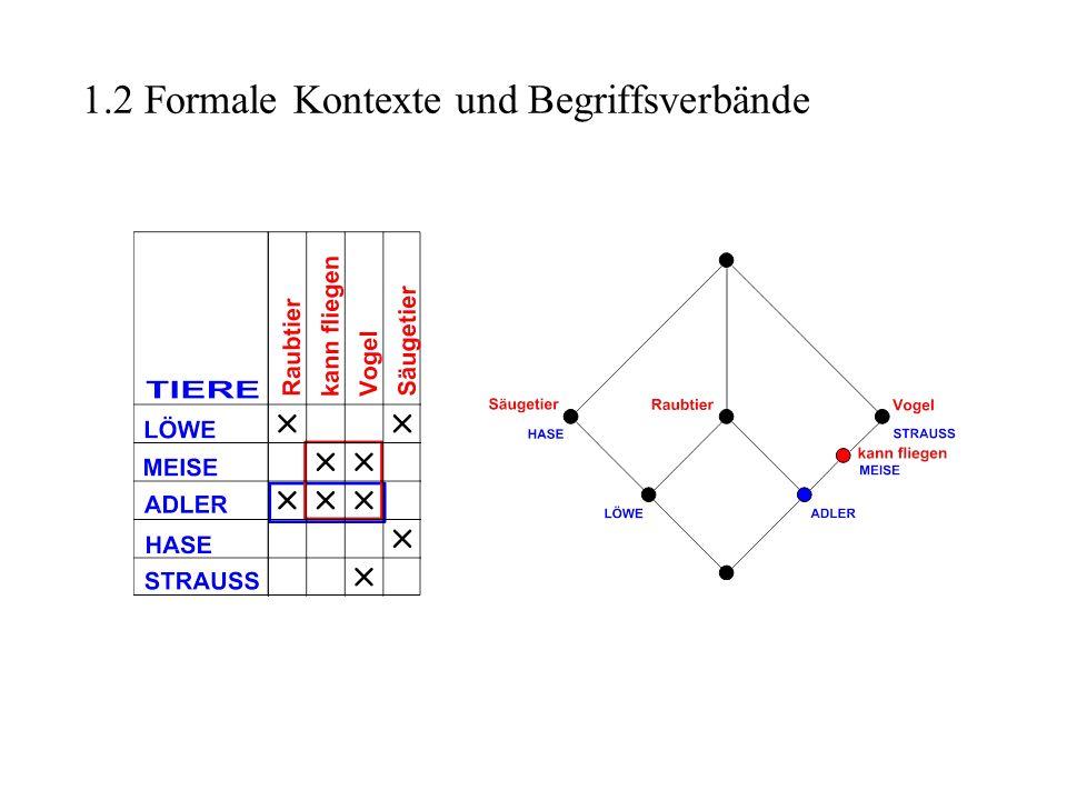 1.2 Formale Kontexte und Begriffsverbände