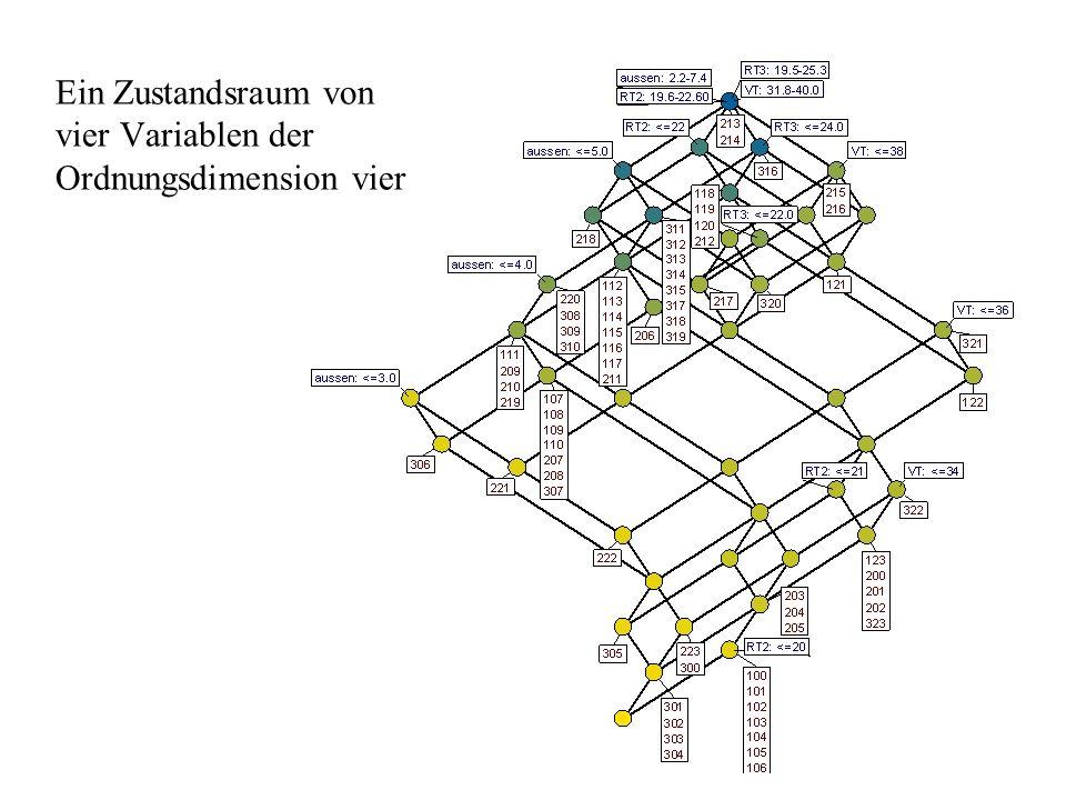 Ein Zustandsraum von vier Variablen der Ordnungsdimension vier