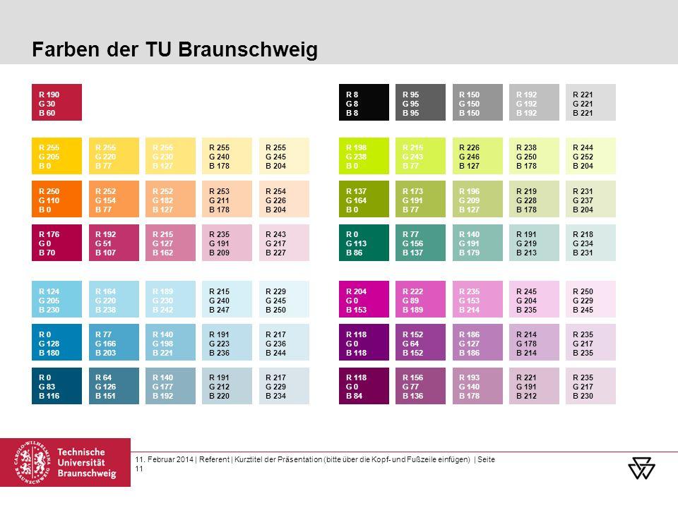 Farben der TU Braunschweig