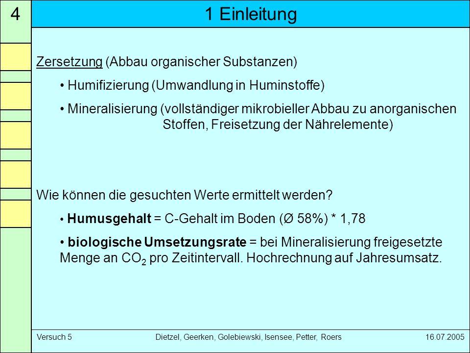 4 1 Einleitung Zersetzung (Abbau organischer Substanzen)