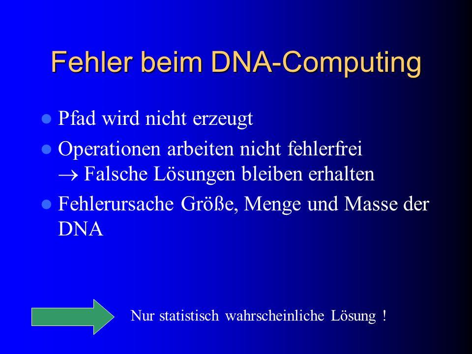 Fehler beim DNA-Computing