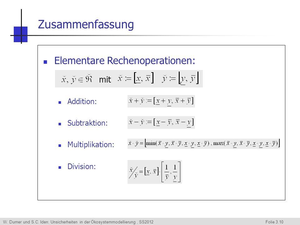 Zusammenfassung Elementare Rechenoperationen: mit Addition: