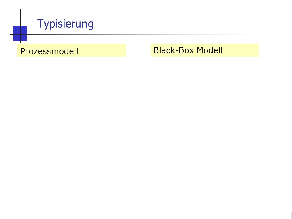 Typisierung Prozessmodell deterministisch Gleichgewicht analytisch