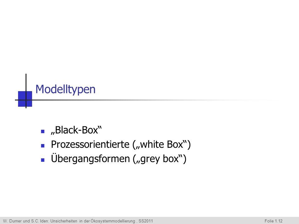 """Modelltypen """"Black-Box Prozessorientierte (""""white Box )"""