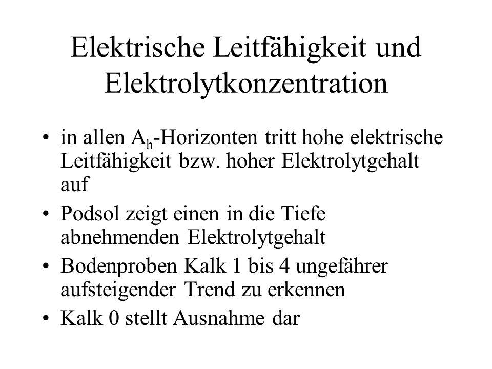 Elektrische Leitfähigkeit und Elektrolytkonzentration