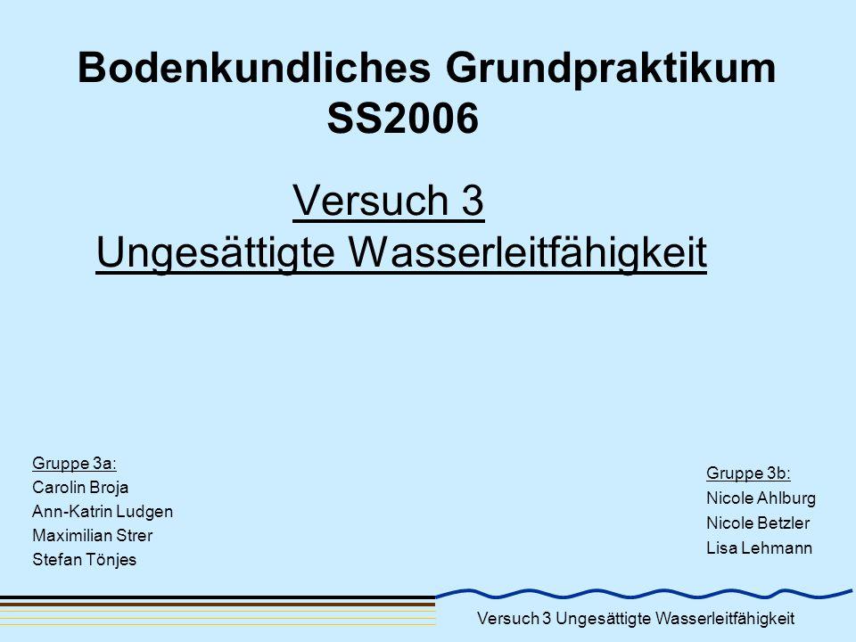Bodenkundliches Grundpraktikum SS2006