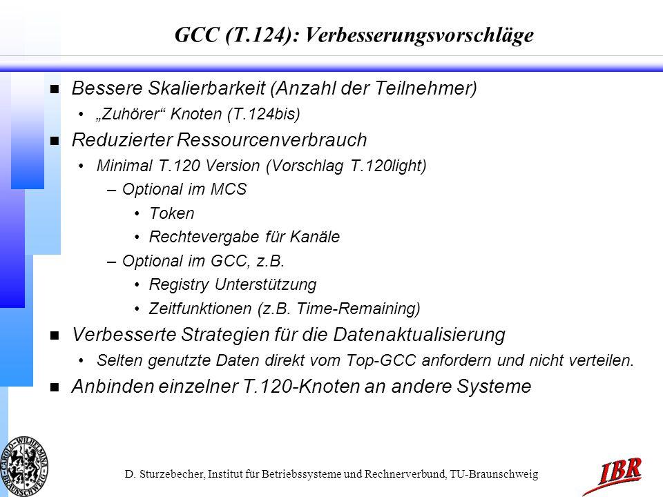GCC (T.124): Verbesserungsvorschläge