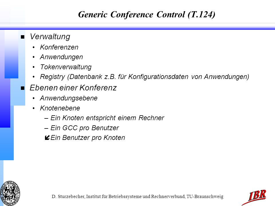 Generic Conference Control (T.124)