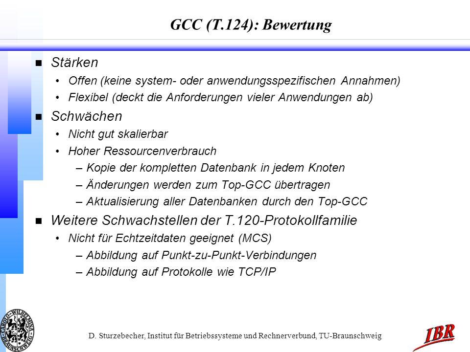 GCC (T.124): Bewertung Stärken Schwächen